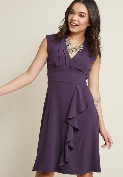 MCD1453 skirt chiffon pleated number purple