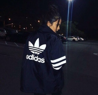 jacket blue tumblr trendy adidas black coat girl adidas sweater windbreaker adidas windbreaker blackadidas flowers sweater