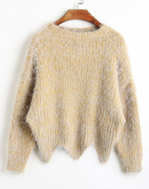 sweater jumper girly sweatshirt fuzzy sweater