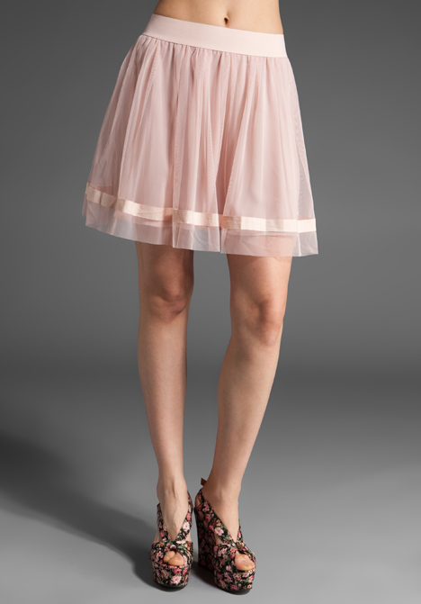 Bb dakota james tulle skirt in bandage pink at revolve clothing