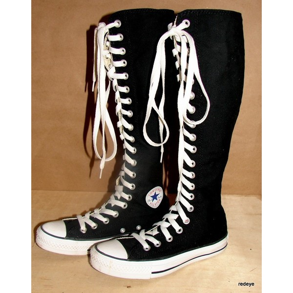 knee high converse shoes - 59% OFF