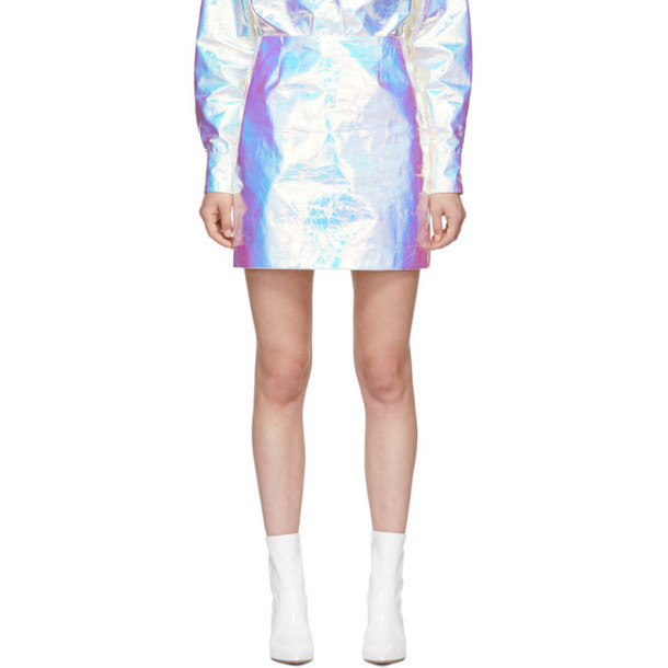 Sies Marjan Silver Desiree Iridescent Miniskirt
