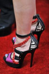 shoes,pink,red,khloe kardashian,high heels,black and white,kardashians