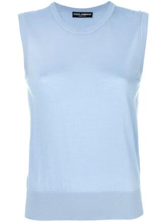 tank top top women blue silk