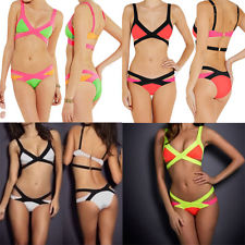 Sexy Women'S Bandage Bikini Swimwear Padded Beachwear Bodycon Bathing Suits SET | eBay