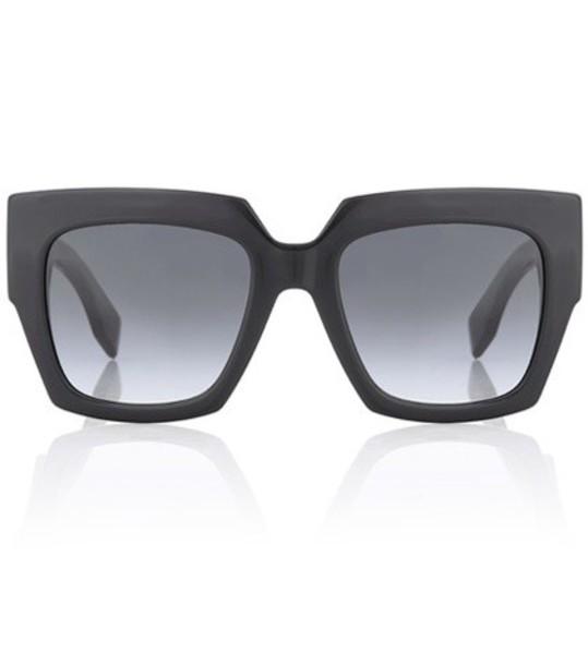 Fendi oversized sunglasses black