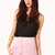 Gale Velvet High Waisted Shorts in Pink at Fashion Union