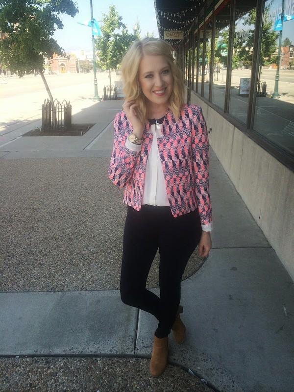 fashion flirtation blogger top jacket shoes jewels