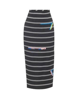 skirt pencil skirt print black