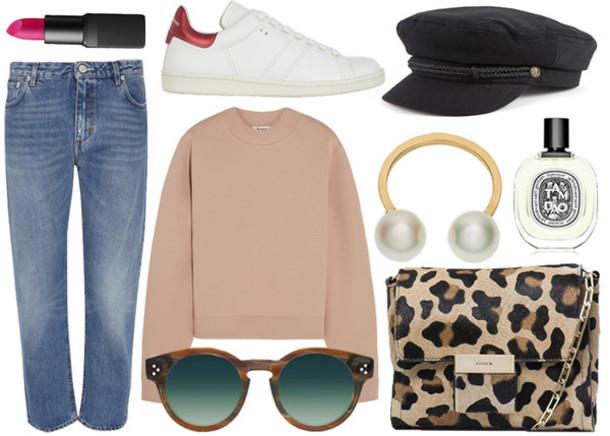 jane's sneak peak blogger jeans sunglasses bag make-up jewels