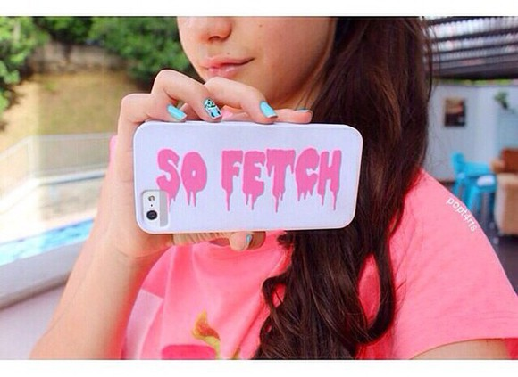 phone phone case phone cases pastel mean girls so fetch