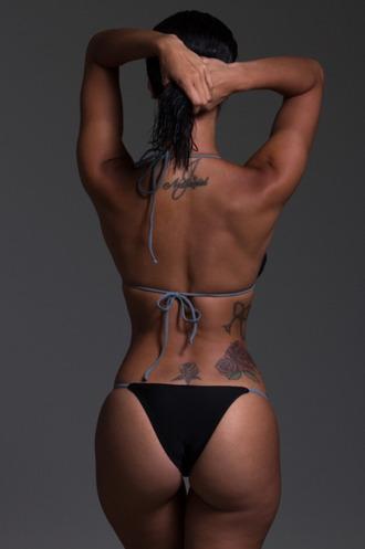 swimwear draya michele mint swim bikini bikini top bikini bottoms black swimwear