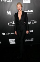 jacket,pants,tom ford,gwyneth paltrow,black