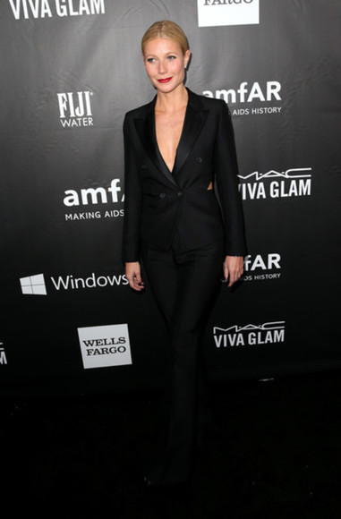 jacket pants tom ford gwyneth paltrow black