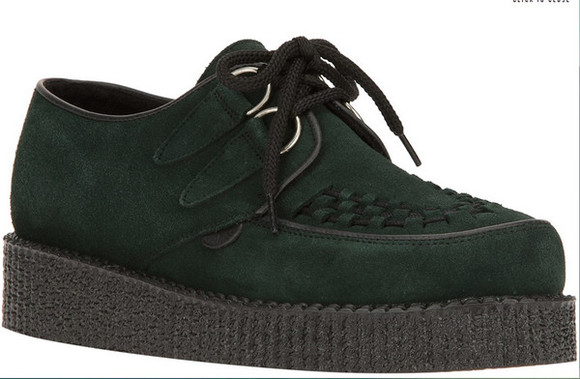shoes green shoes creepers