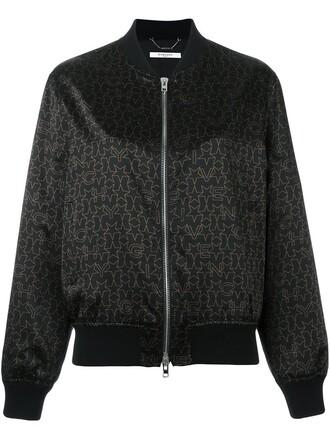 jacket bomber jacket print black