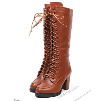 shoes boot zip lace up
