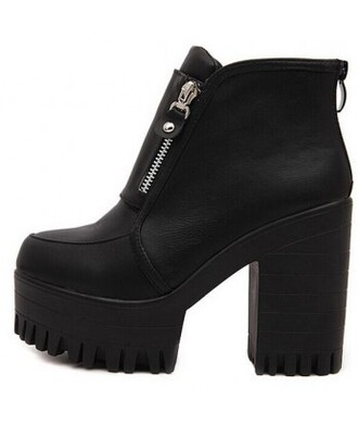 shoes boots it girl shop zip platform shoes unif goth grunge grunge shoes black grunge wishlist goth shoes trendy