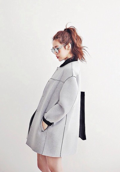 jacket coat black grey trench coat kind of wool winter winter coat tumblr trench coats for women