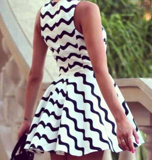 Cute grain fashion hot dress
