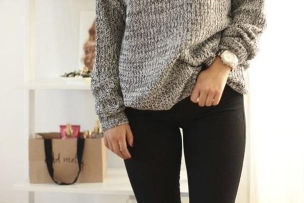 sweater grey grey sweater knitwear knitwear