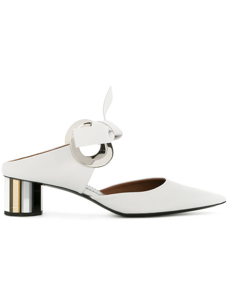 Proenza Schouler women mules leather white shoes
