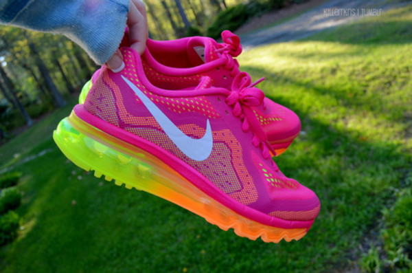 shoes running shoes rainbow jell nike sneakers