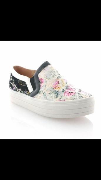shoes flowers vans