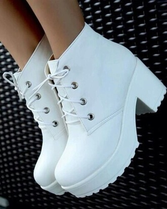 shoes white shoes cute platforms