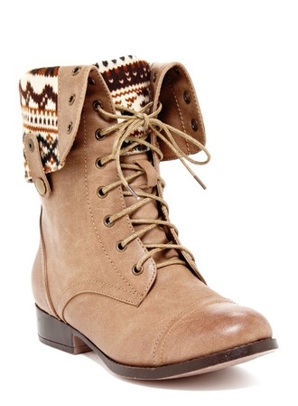 shoes boots beige camel indian aztec