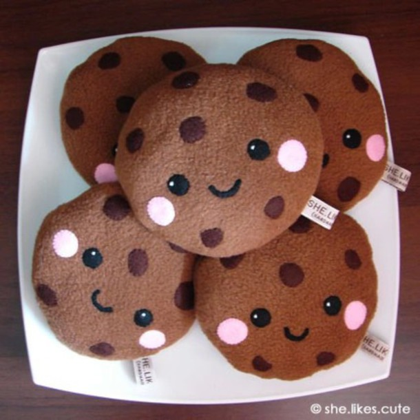 home accessory cookies food stuffed animal cute