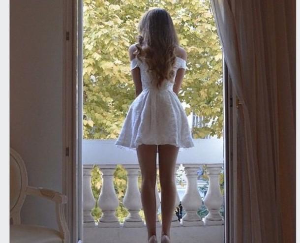 dress white off the shoulder urgent top