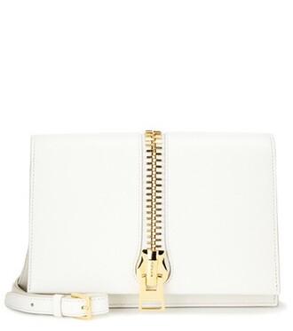 zip bag shoulder bag leather white