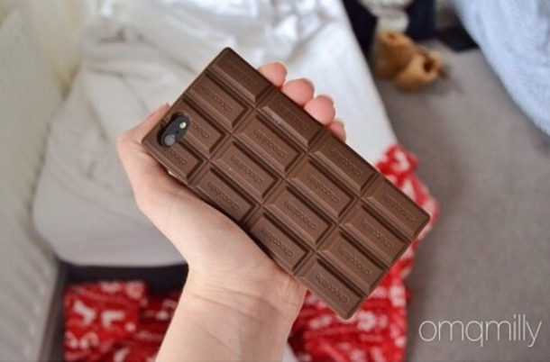 phone cover brown chocolate
