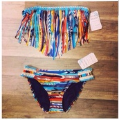 swimwear,indian,fringes,color/pattern,bikini,fringe bikini,summer,cute,beach,underwear,cardigan,elite fashion swimwear,l space,fringed top,aztec,swimwear printed,ruffle bandeau bikini,tribal pattern,swinsuit,bandeau bikini,native american,tribal two piece,multicolor,native,beachwear,native fringe,strings,string bikini,lucky brand,colorful fringe bikini