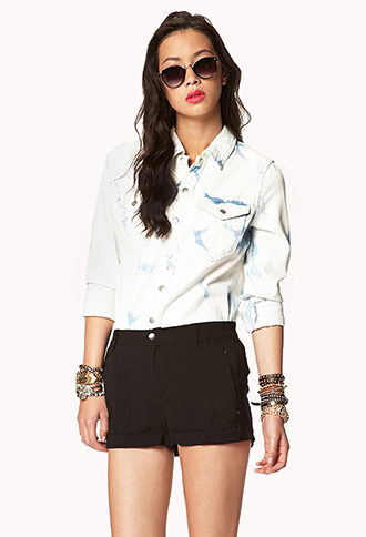 Cuffed Woven Shorts | FOREVER21 - 2051654736