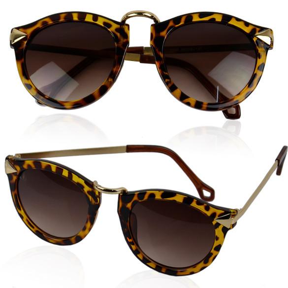 Cheetah Print Owl Eyed Sunglasses