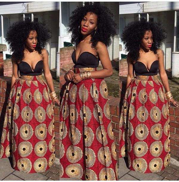 skirt maxi skirt african print dress maxi dress tribal print dress