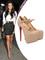 Kim kardashian heels beige leather round toe red bottom platform lady daf mary jane stiletto 160 mm pumps