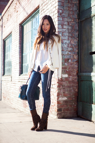 bag jewels jeans blouse jacket shoes song of style
