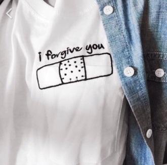 t-shirt white t-shirt follow me please :-)