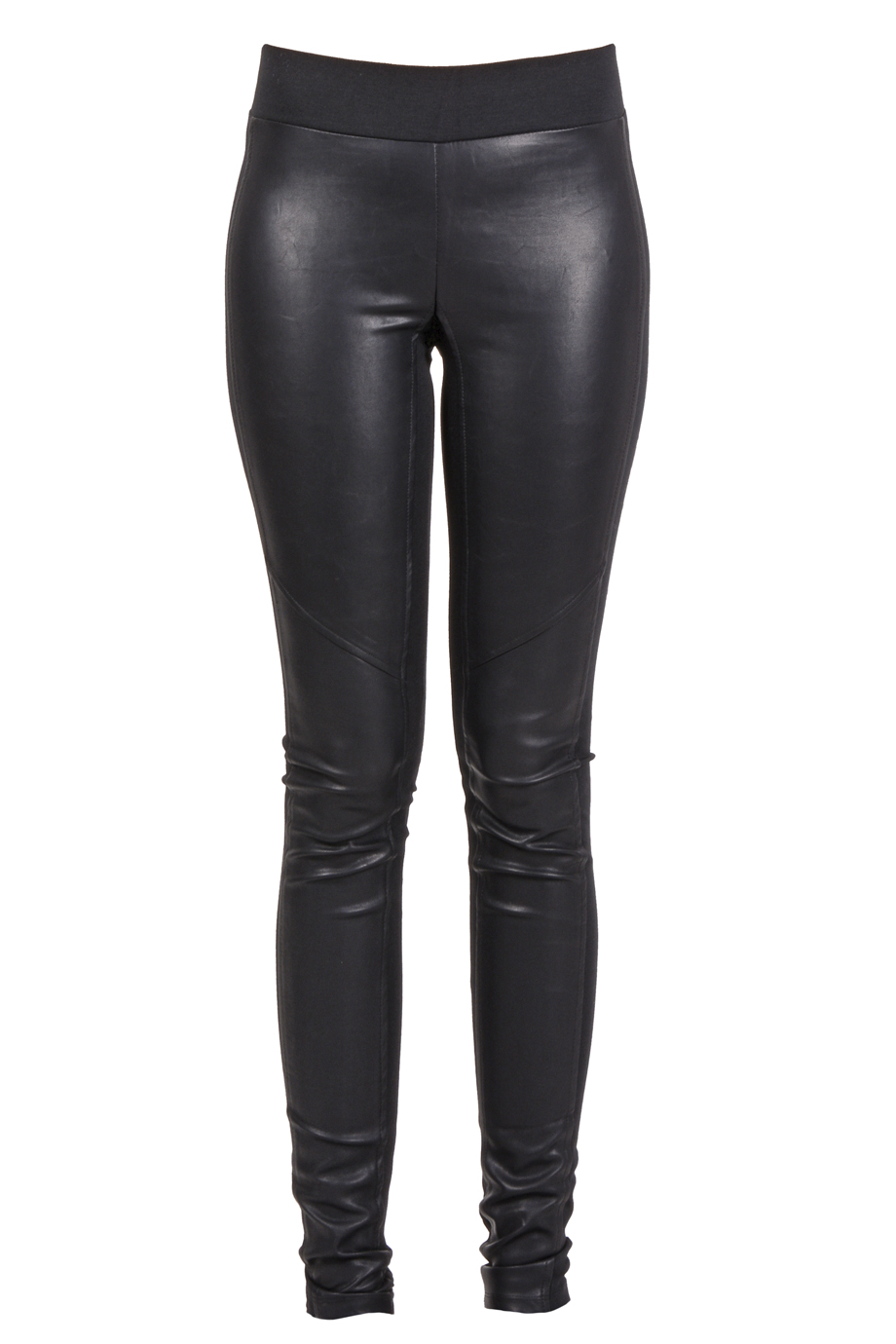 SWEEWË TALIA Black Eco-Leather Leggings - CLOTHING | FASHION LEGGINGS | PRET-A-BEAUTE.COM