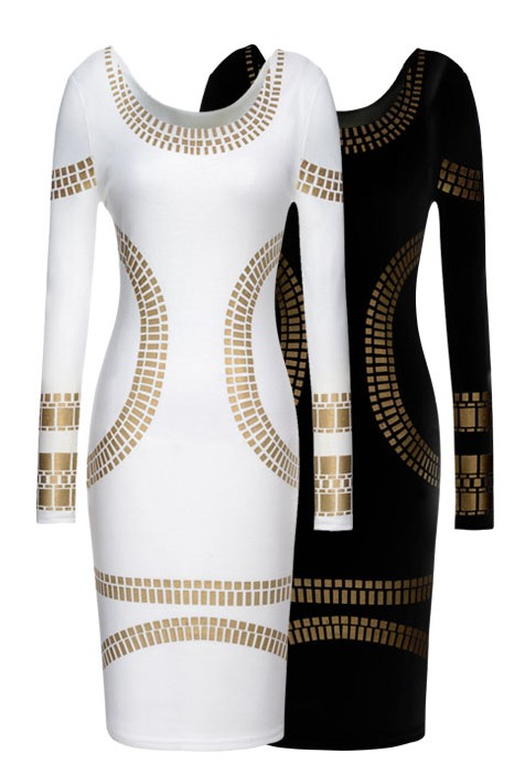 Women Kim Kardashian Celebrity Foil Print Bodycon Short Mini Dress-in Dresses from Apparel & Accessories on Aliexpress.com