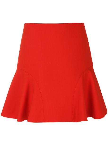 Victoria Victoria Beckham skirt women silk wool yellow orange