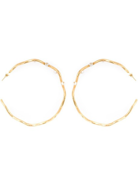 AURELIE BIDERMANN women earrings hoop earrings gold grey metallic jewels
