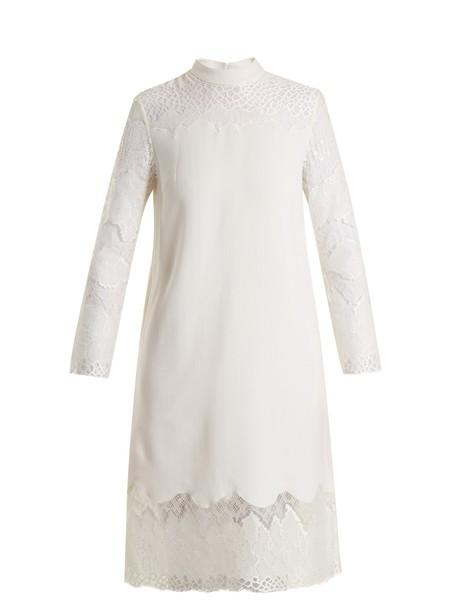 Huishan Zhang dress lace wool white