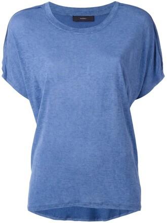 t-shirt shirt women blue top