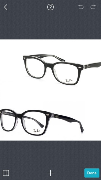 sunglasses glasses frames glasses black transparent rayban