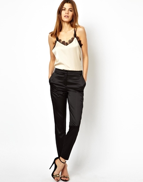 ASOS | ASOS Trousers In Satin at ASOS