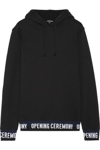 top cotton black knit